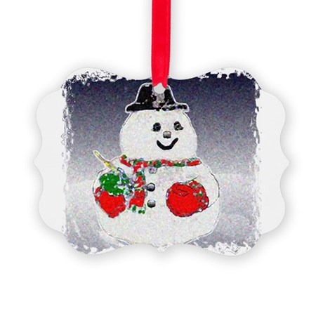 Snowman Picture Ornament