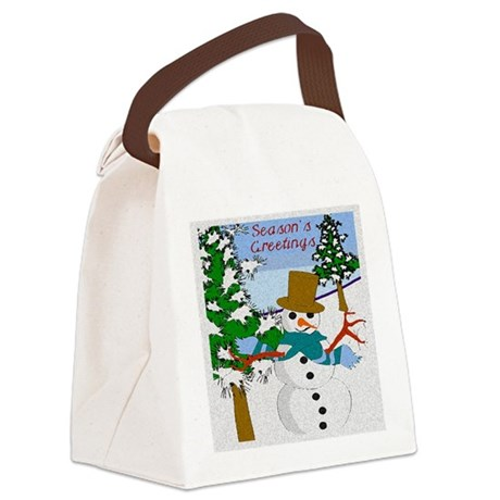 Seasons Greetings Canvas Lunch Bag