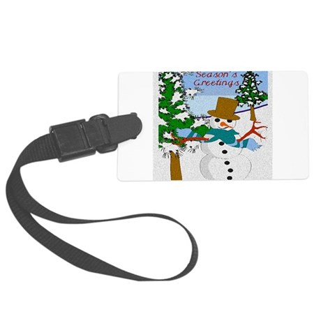 Seasons Greetings Large Luggage Tag