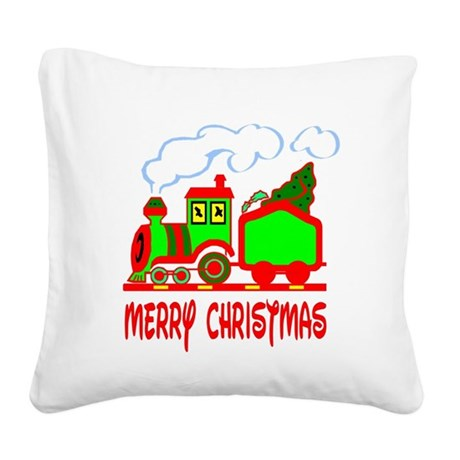 train3.png Square Canvas Pillow