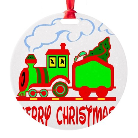 train3.png Round Ornament