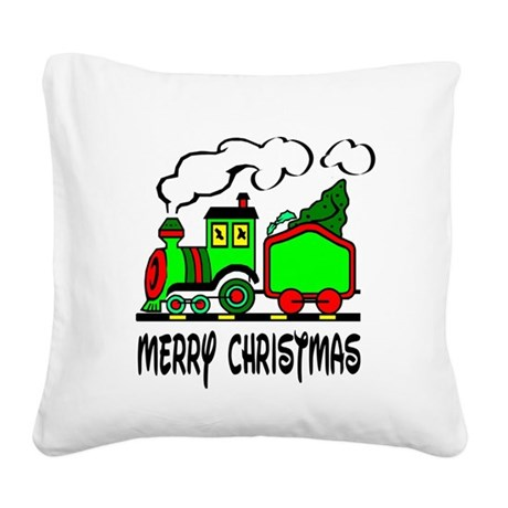 train.png Square Canvas Pillow