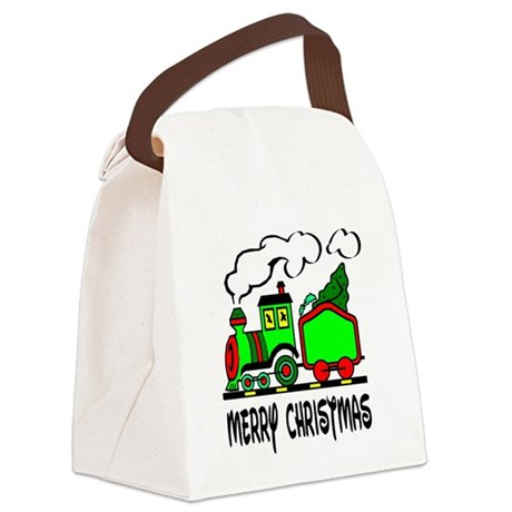 train.png Canvas Lunch Bag
