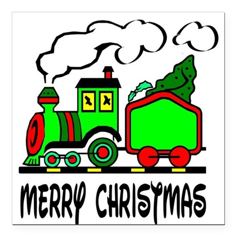 "train.png Square Car Magnet 3"" x 3"""