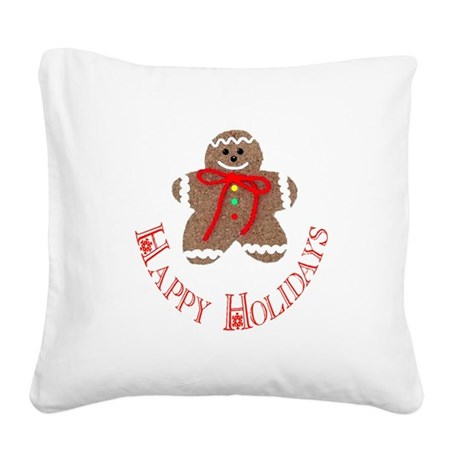 ginger4.png Square Canvas Pillow