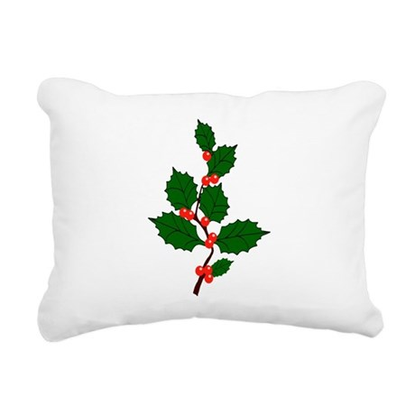 holly.png Rectangular Canvas Pillow