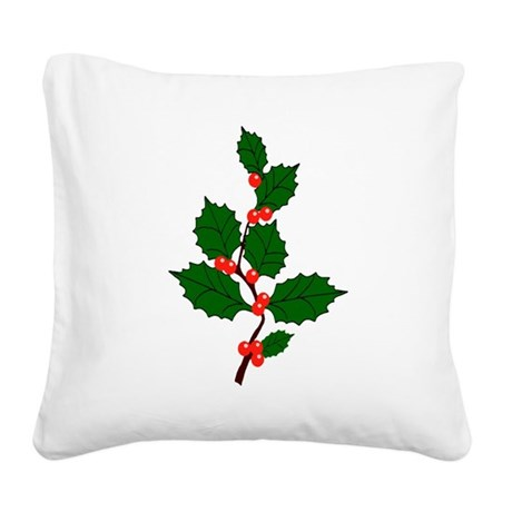 holly.png Square Canvas Pillow
