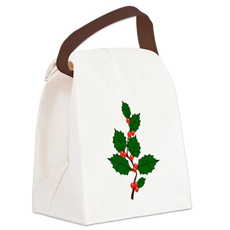 holly.png Canvas Lunch Bag
