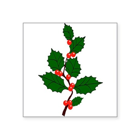 "holly.png Square Sticker 3"" x 3"""