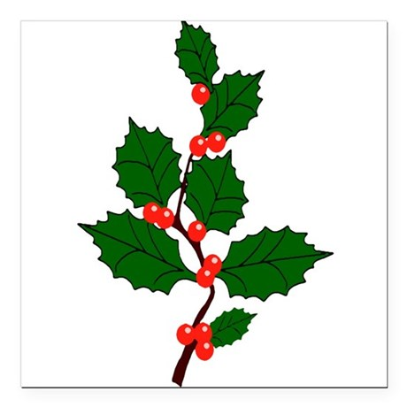 "holly.png Square Car Magnet 3"" x 3"""