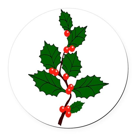 holly.png Round Car Magnet