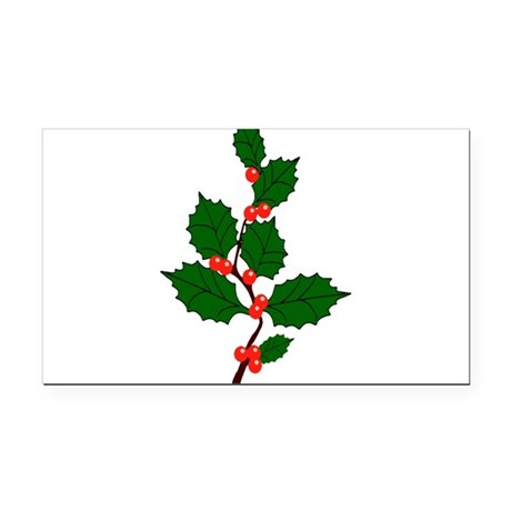 holly.png Rectangle Car Magnet