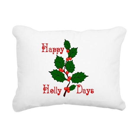 holly2.png Rectangular Canvas Pillow