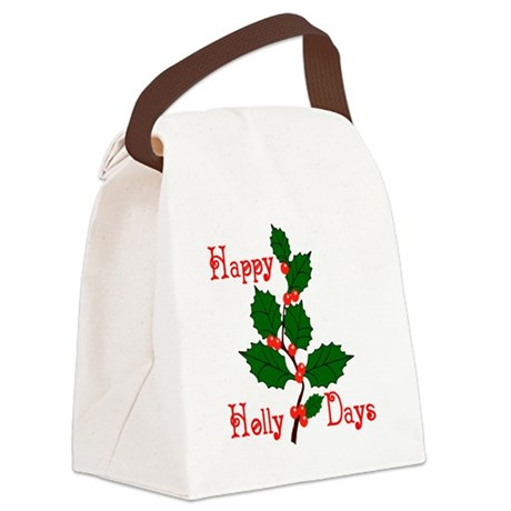 holly2.png Canvas Lunch Bag
