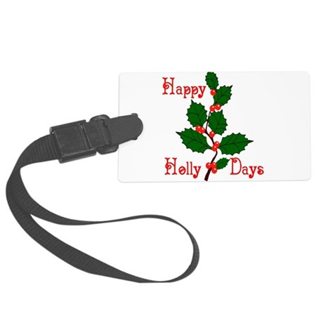 holly2.png Large Luggage Tag