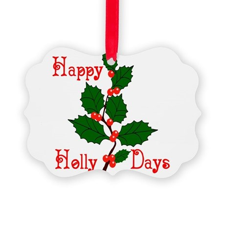 holly2.png Picture Ornament