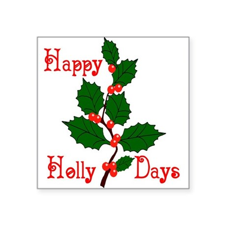 "holly2.png Square Sticker 3"" x 3"""