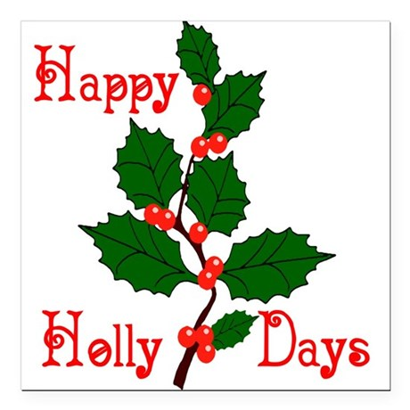 "holly2.png Square Car Magnet 3"" x 3"""