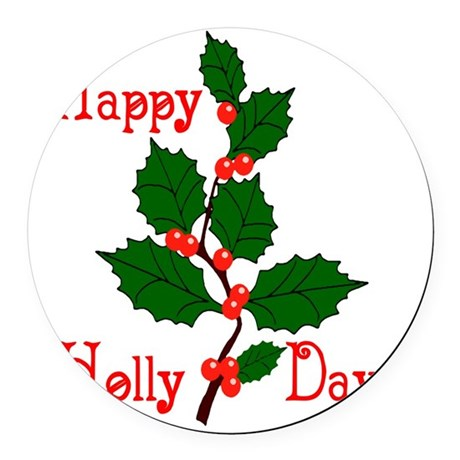 holly2.png Round Car Magnet