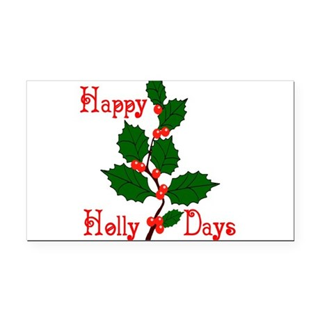 holly2.png Rectangle Car Magnet