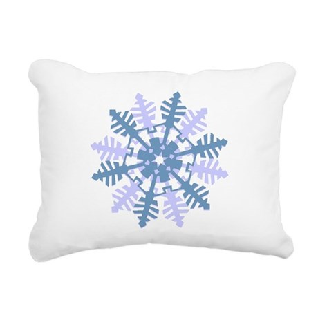 Snowflake Rectangular Canvas Pillow