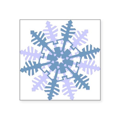 Snowflake Square Sticker 3&quot; x 3&quot;