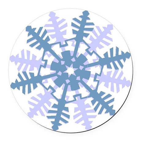 Snowflake Round Car Magnet