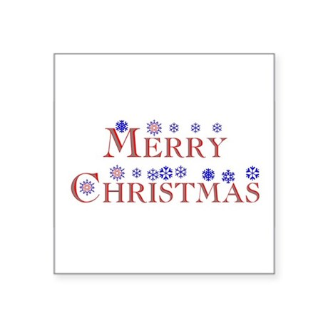 Merry Christmas Square Sticker 3&quot; x 3&quot;