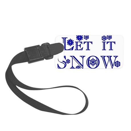 Let it Snow Small Luggage Tag