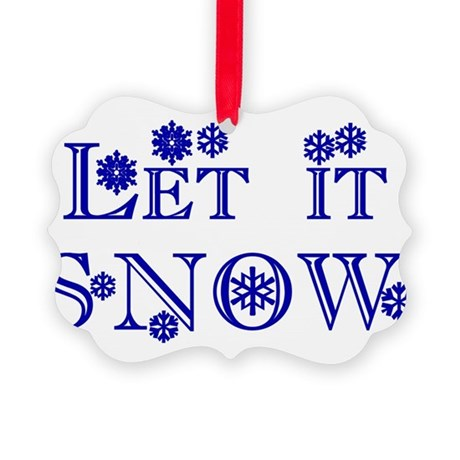 Let it Snow Picture Ornament