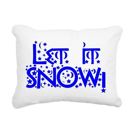 Let it Snow! Rectangular Canvas Pillow