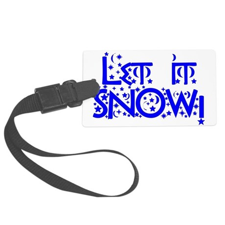 Let it Snow! Large Luggage Tag