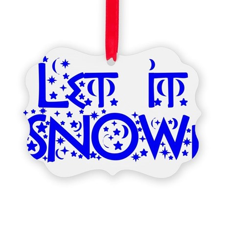 Let it Snow! Picture Ornament