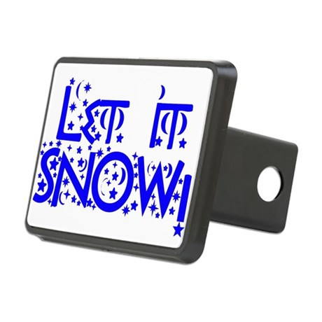 Let it Snow! Rectangular Hitch Cover