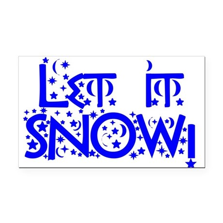 Let it Snow! Rectangle Car Magnet