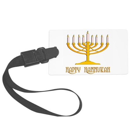 hannukah2.png Large Luggage Tag