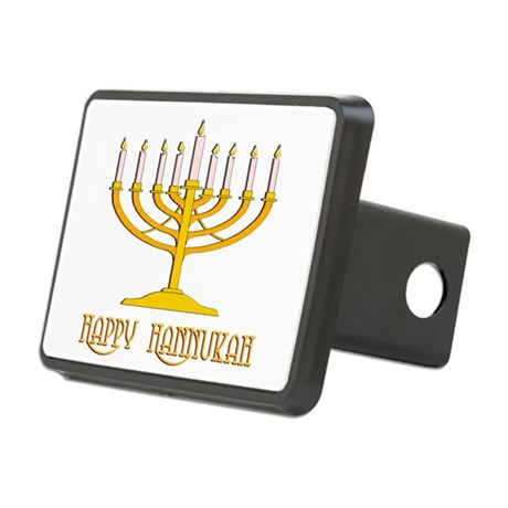 hannukah2.png Rectangular Hitch Cover