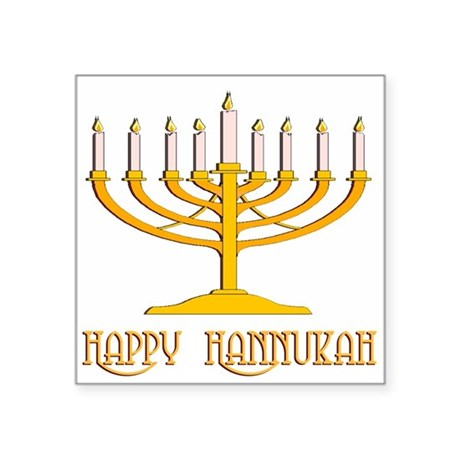 "hannukah2.png Square Sticker 3"" x 3"""
