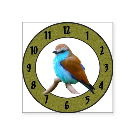 "Clocks Square Sticker 3"" x 3"""