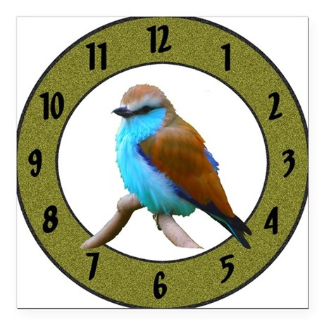 "Clocks Square Car Magnet 3"" x 3"""