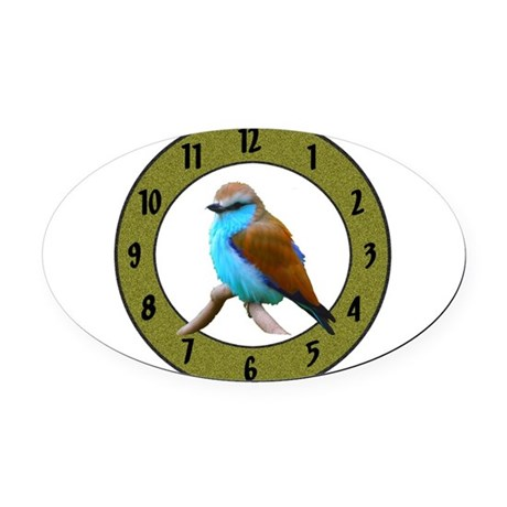 Clocks Oval Car Magnet
