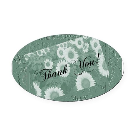 Sunflowers1c.jpg Oval Car Magnet