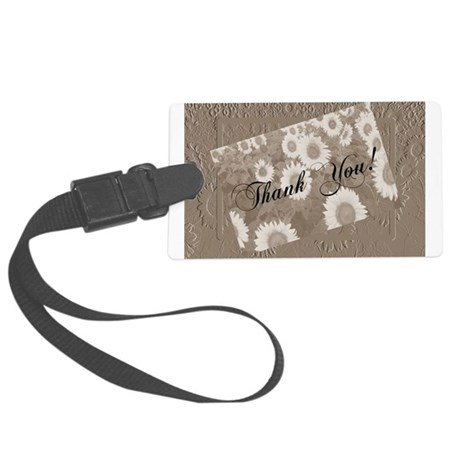 Sunflowers1a.jpg Large Luggage Tag
