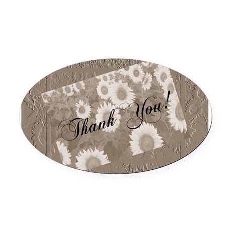 Sunflowers1a.jpg Oval Car Magnet
