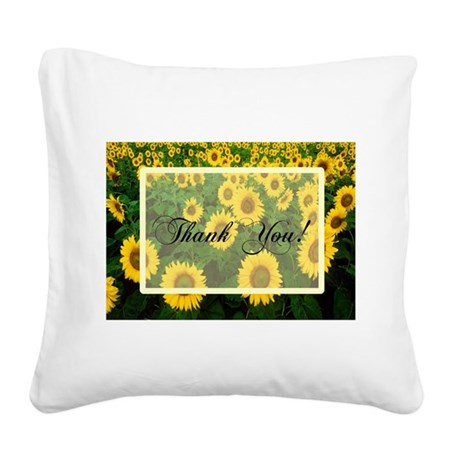 Sunflowers1.jpg Square Canvas Pillow