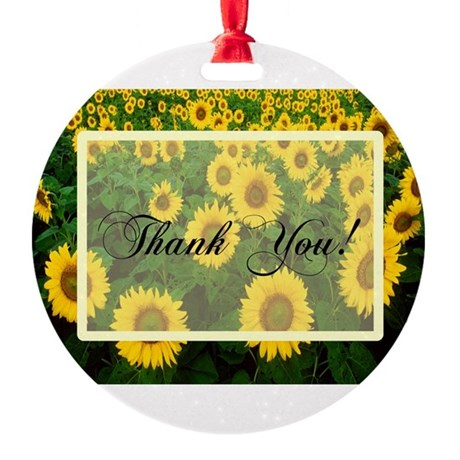 Sunflowers1.jpg Round Ornament