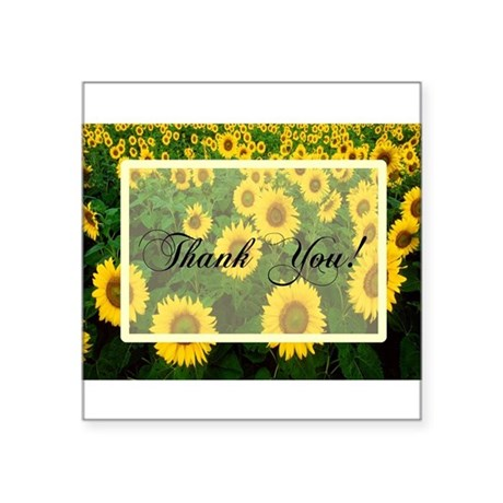 "Sunflowers1.jpg Square Sticker 3"" x 3"""