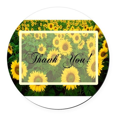 Sunflowers1.jpg Round Car Magnet