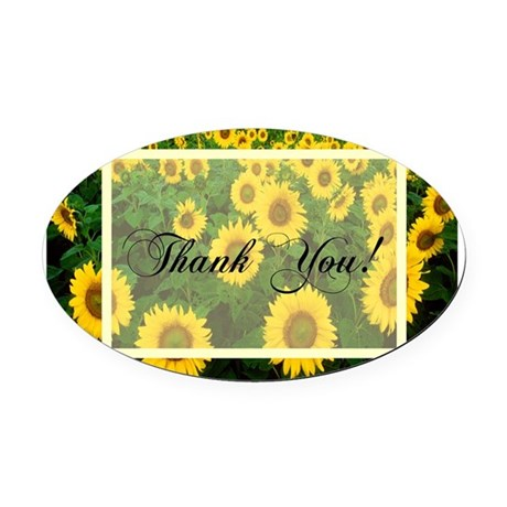 Sunflowers1.jpg Oval Car Magnet
