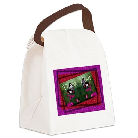 butterflies1c.jpg Canvas Lunch Bag